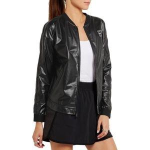 NIKE Court coated mesh bomber jacket in black #B16